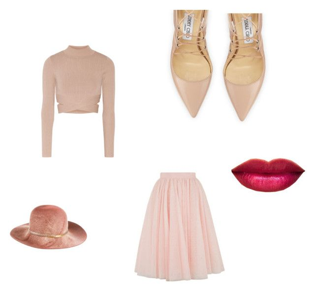 """""""*blush*"""" by leigh-ann-griffiths on Polyvore featuring Jonathan Simkhai, Ted Baker, Jimmy Choo and Eugenia Kim"""