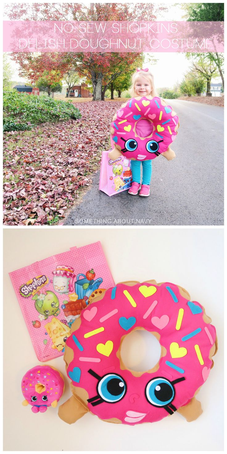 DIY Shopkins Delish Doughnut costume from Something About Navy