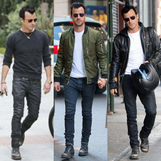 Justin Theroux - jeans, t-shirt and boots