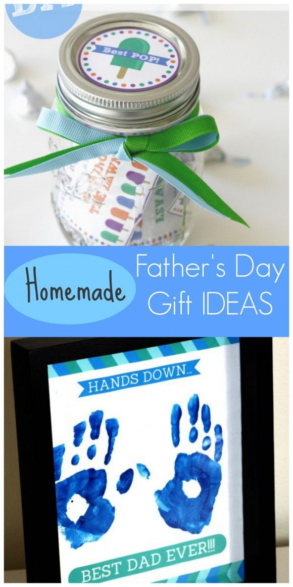Last Minute Homemade Father's Day Gift Ideas for Kids using free printables! | CatchMy Party