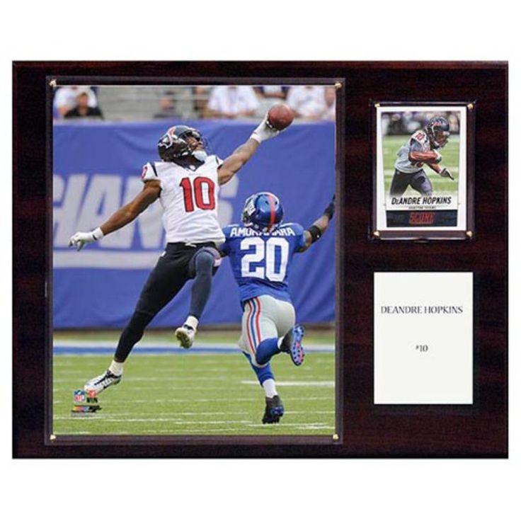 C and I Collectables NFL 15W x 12H in. DeAndre Hopkins Houston Texans Player Plaque - 1215HOPKINS