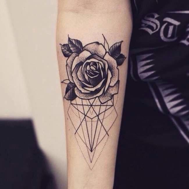 Rose grafics tattoo - Forearm | Tattoos | Pinterest | Best Tattoo ...