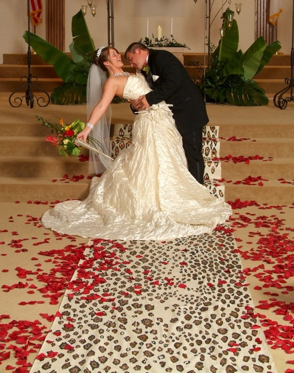 Leopard runner  Custom wedding runner by The Original Runner Company.    www.originalrunners.com