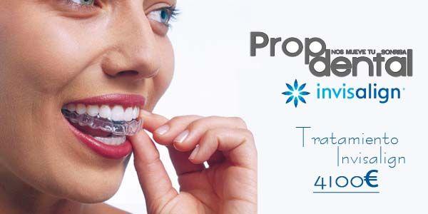 Precio #ortodoncia estética e invisible mediante el sistema #invisalign en Clínicas Propdental de Barcelona