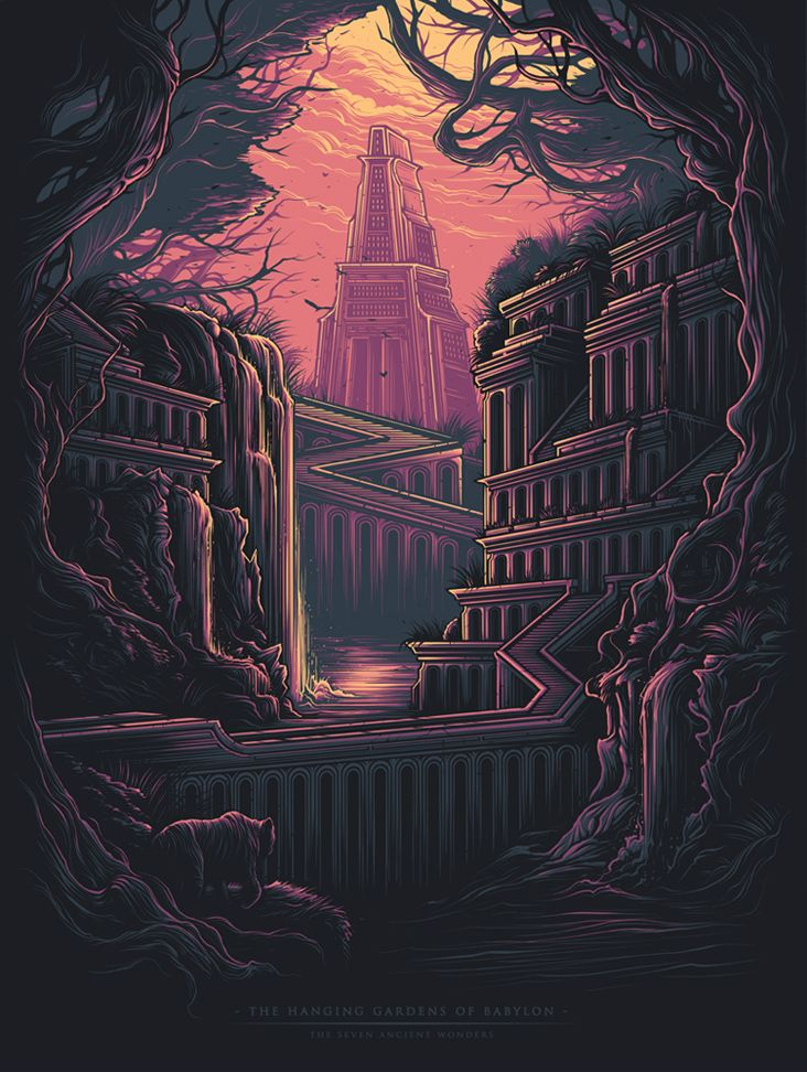 The Hanging Gardens of Babylon [The Seven Ancient Wonders] by Dan Mumford