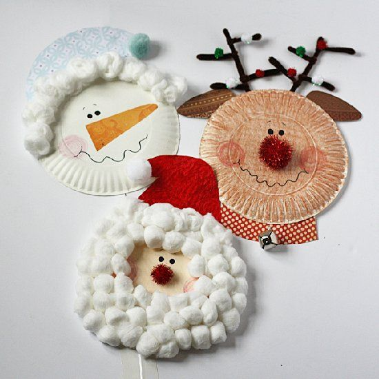 Santa, Rudolph and a snowman are iconic symbols of Christmas that children love! Make them from paper plates using this free tutorial.