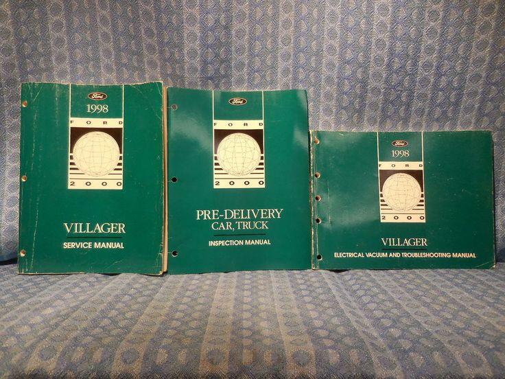 1998 Mercury Villager OEM Original Service / Workshop Manual 3 Volume Set #Ford