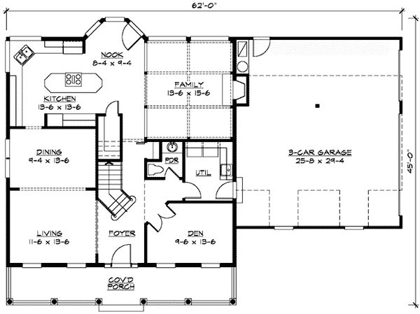 28 X 40 Floor Plans With Attached Garage