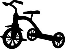tricycle silhouette street sign project pinterest. Black Bedroom Furniture Sets. Home Design Ideas