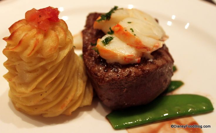 pictures of disney fantasy food | Filet at Royal Court