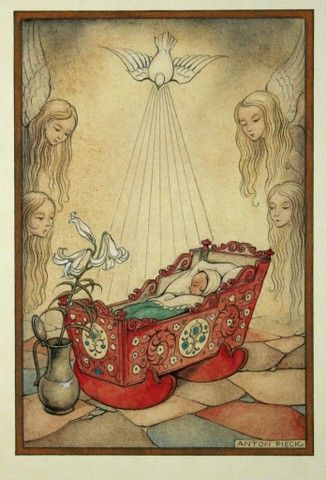 Tot de jaren zestig van de vorige eeuw speelde religieuze taferelen de hoofdrol bij geboorteaankondigingen