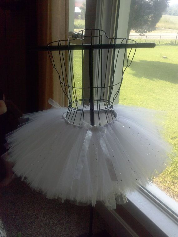 White Bridal Tutu/Bachelorette Tutu by LilvannahsCreations on Etsy, $30.00/