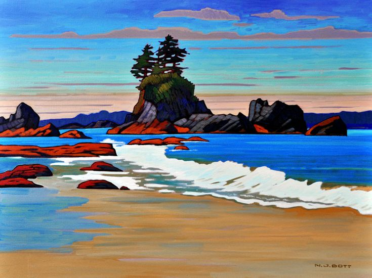 Nicholas Bott   OIL                        Brady's Beach Crescendo