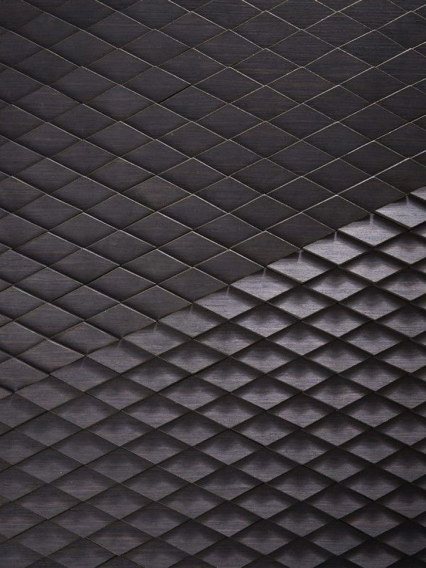 Wellington Tile, Veneered Timber Our laser-cut adaption of the diamond Wellington tile  Black