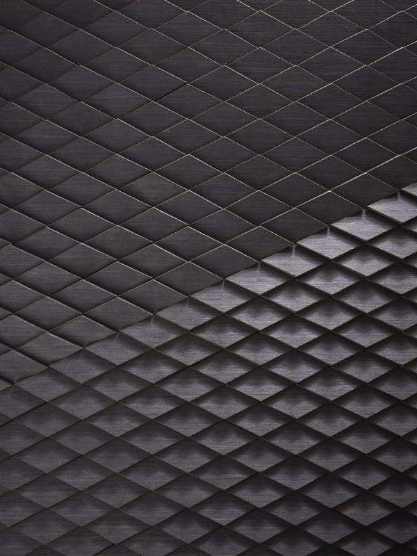 Wellington Laser Cut in Black Oak veneer with bespoke imagery by Giles Miller Studio