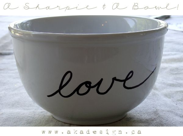 a sharpie and a bowl!