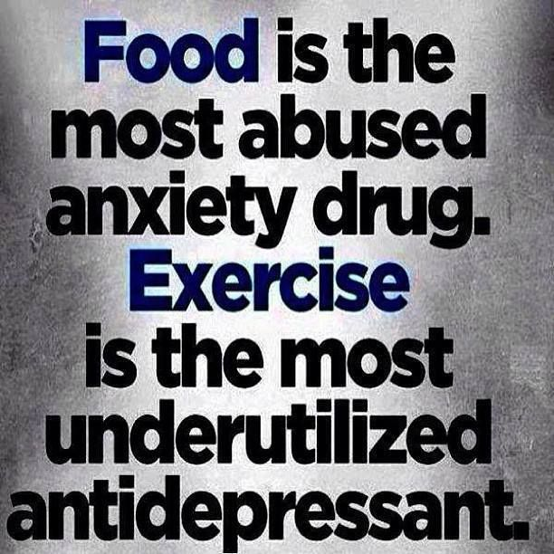 Photo: Food is the most abused anxiety drug. Exercise is the most underutilized antidepressant. http://www.dolphinempowerment.com/XtremeX2O.htm