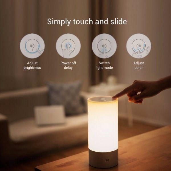 Original Xiaomi Yeelight Bedside Lamp RGB Wireless Touch Control Night Light For Cellphone