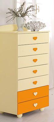 settimino Cuore panna/arancio #baby #crib #cot