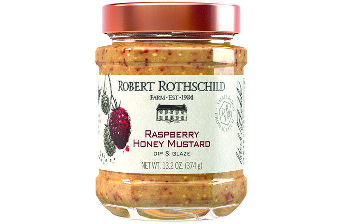 Delicate and versatile, this dip turns to a sweet, honey glaze that is perfect for Cornish hens. An even sweeter influence on roasted sweet potatoes or as a condiment on a panini sandwich. Excellent paired with salty pretzels, Blend into your favorite chicken salad, Stir into artichoke spinach dip, Condiment for ham sandwiches, Glaze for baked chicken breasts. $7.99 at robertrothschild.com.