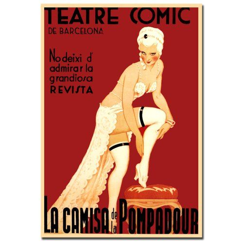 Trademark Fine Art Teatre Comic de Barcelona Canvas Wall Art 18x24Inch * Find out more about the great product at the image link.Note:It is affiliate link to Amazon.