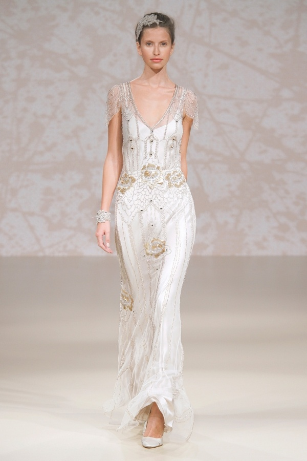 Jenny Packham 20s inspired wedding dress