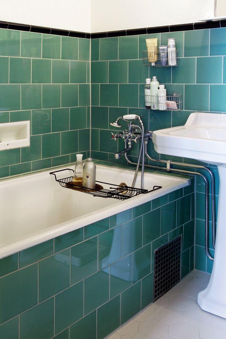 Green built in bathtub