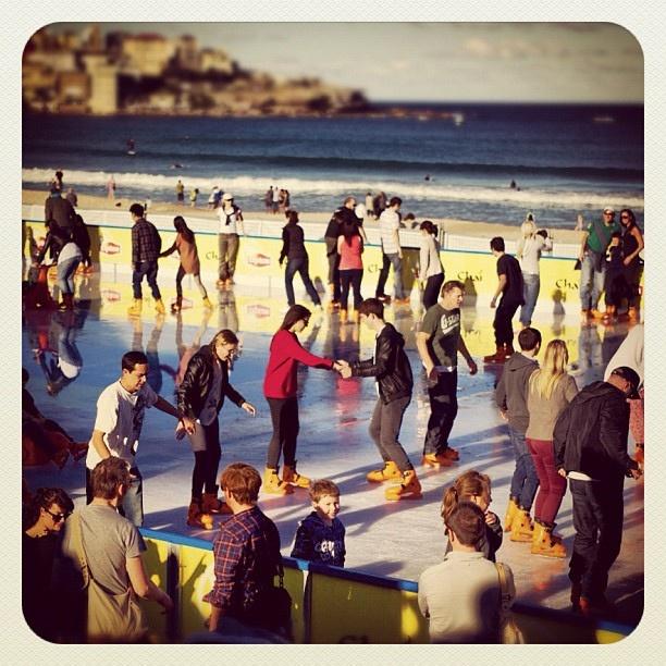 Farewell Fabulous Ice Rink! Thanks for the good times! #bondi #atbondi #sydney #seeaustralia #iceskating #winter #beach #sun #fun