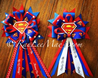 superman baby shower corsage – Etsy
