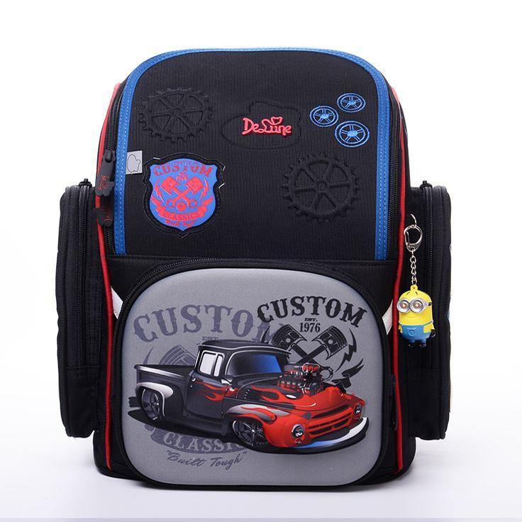 Delune Backpack Orthopedic School Bags For Boys Kids Knapsack 3D Car Model Children School Bags Backpack Kids Rucksack Mochila #Affiliate