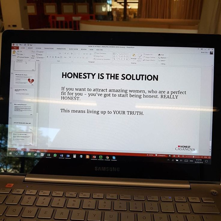 Working on a presentation for an upcoming #event. We're bringing the #honesty back to #dating.