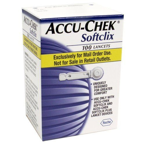 ACCU-CHEK Softclix Lancets 100-Count Box (Pack of 2)