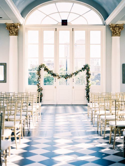 New Orleans wedding, French Quarter wedding, Galvez Restaurant, Garland by Bee's Wedding and Event Design, Image by Reg Campbell