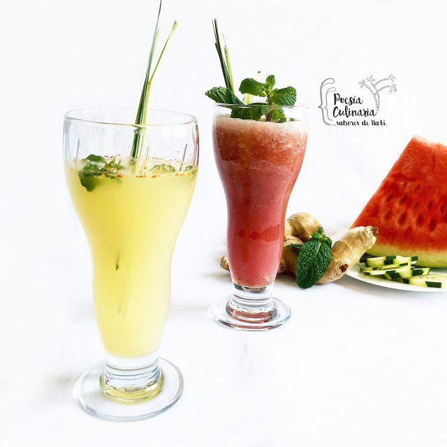Paladares {Sabores de nati }: Limonada de jengibre y pimienta cayena