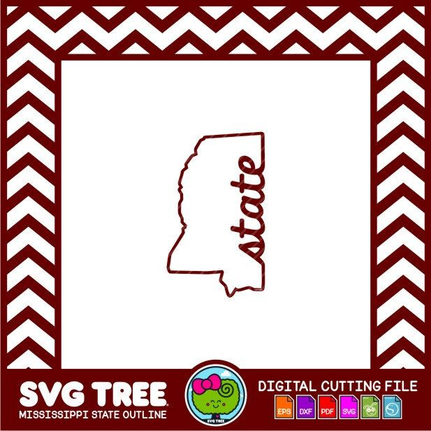 Mississippi SVG, State Outline, Bulldog SVG, State Decor, SVG Files, dxf Files, Vector Art, Cricut, Silhouette Studio, Digital Cut Files by SVGTREE on Etsy https://www.etsy.com/listing/244611192/mississippi-svg-state-outline-bulldog