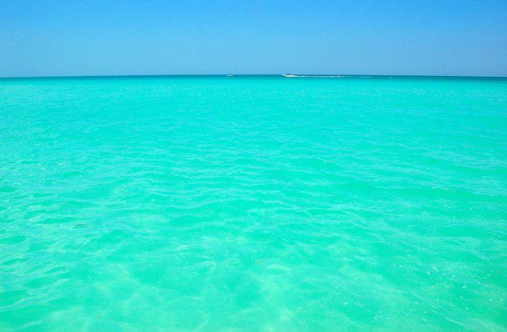turquoise waters in Río Lagartos, Yucatan, Mexico