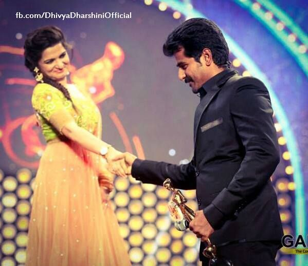 DD and Siva at Vijay Awards