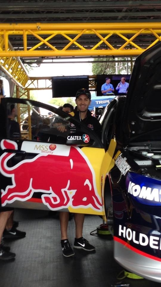 V8 champion, Jamie Whincup - Melbourne 2013