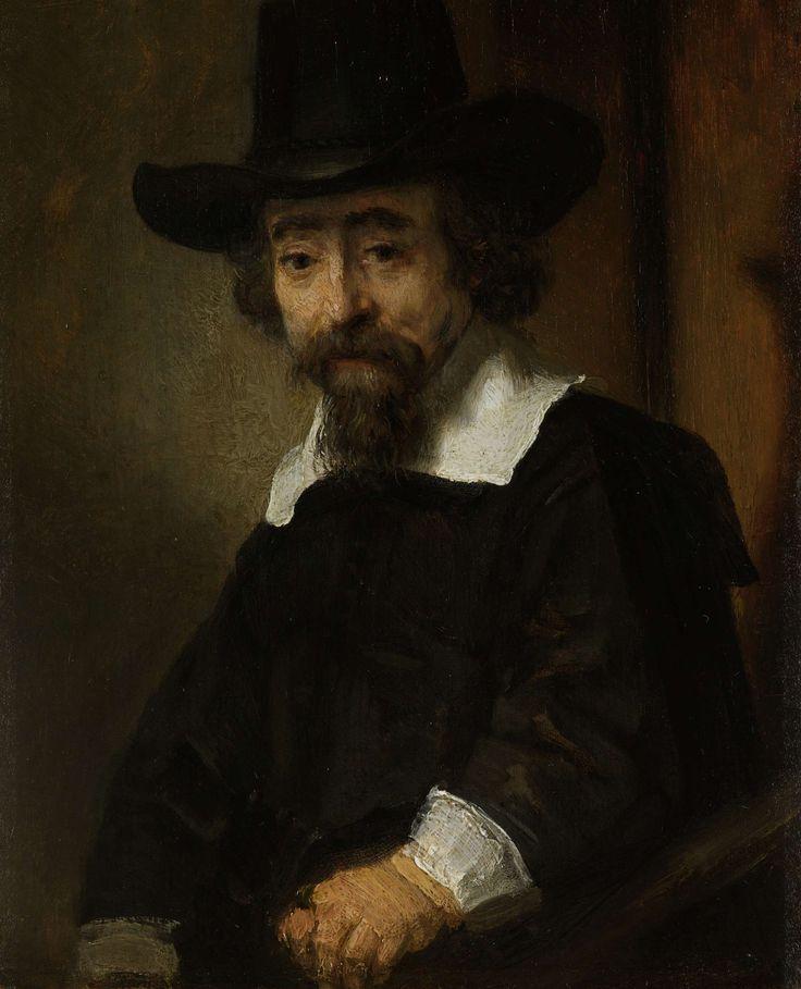 Portret van een man, vermoedelijk Dr. Ephra�m Bueno, Rembrandt Harmensz. van Rijn, 1645 - 1647