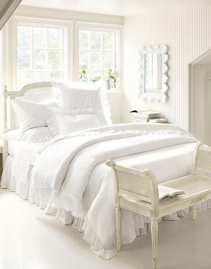 All white bedroom from Ballard Designs