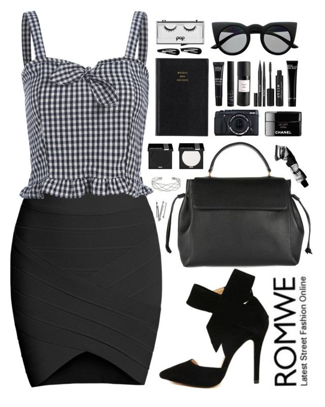 """""""Romwe 2"""" by scarlett-morwenna ❤ liked on Polyvore featuring Lanvin, MAKE UP FOR EVER, Aesop, Prada, NARS Cosmetics, Eight & Bob, BOBBY, Stila, Bobbi Brown Cosmetics and Pop Beauty"""