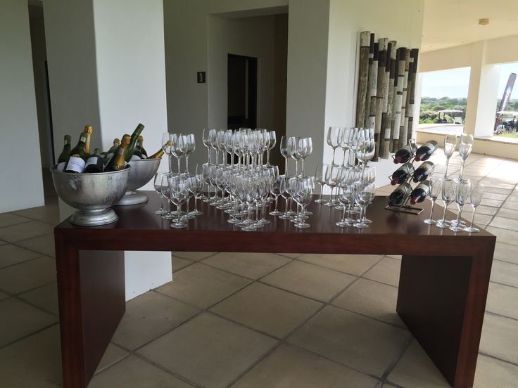 Wine Station for Welcoming Drinks
