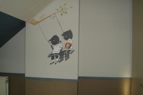 Jip en Janneke 2. #muurschildering #decoratie #Decodomus