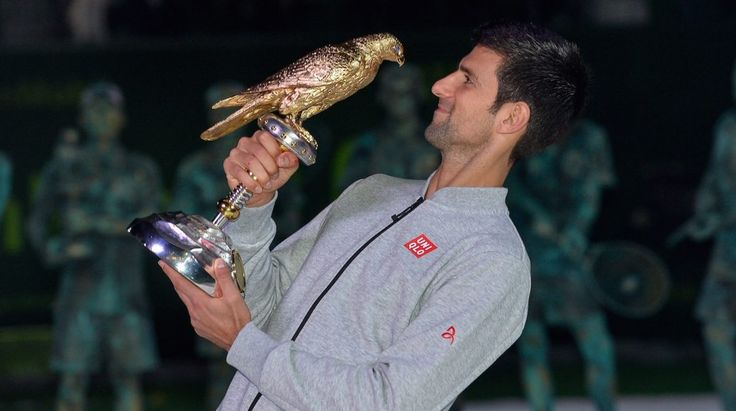 NOVAK DJOKOVIC WINNER TOURNAMENT DOHA (QATAR)