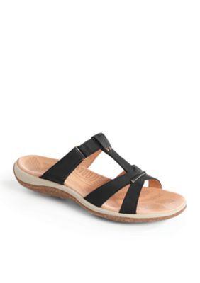 Acorn Women's C2g Lite T-Strap Sandal - Black - 10M