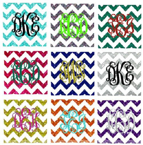 Chevron Pocket Iron On Glitter Chevron Monogram by TJGonehunting