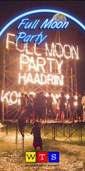 Dünyanın en büyük plaj partilerinden olan ve her ay dünyanın dört bir yanından binlerce kişinin katıldığı Full Moon Party, sınırsız eğlence arayanlar için en doğru şeçim… http://www.wts.com.tr/full-moon-party.htm