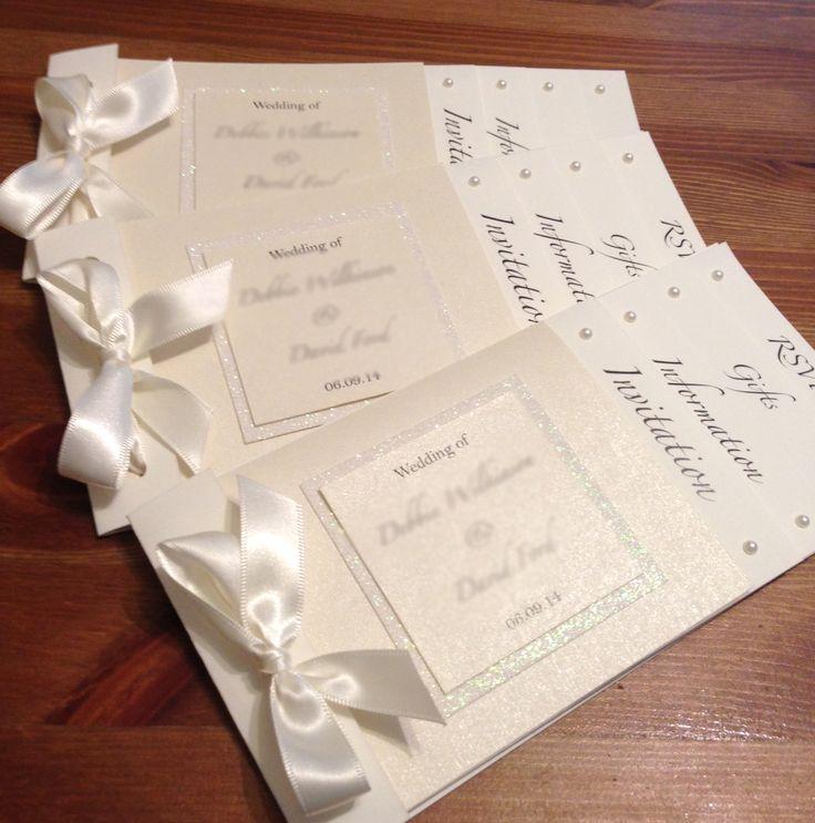 mini book wedding invitations uk%0A Stunning cream effect cheque book invites xx