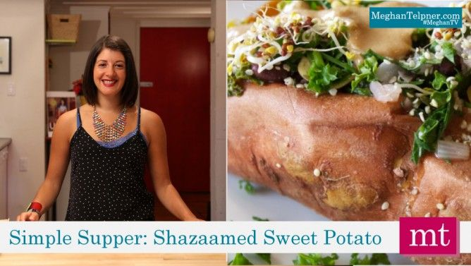 Quick and Easy Dinner Idea: All-Dressed Sweet Potato #MeghanTV #video #healthy #dinner #undiet