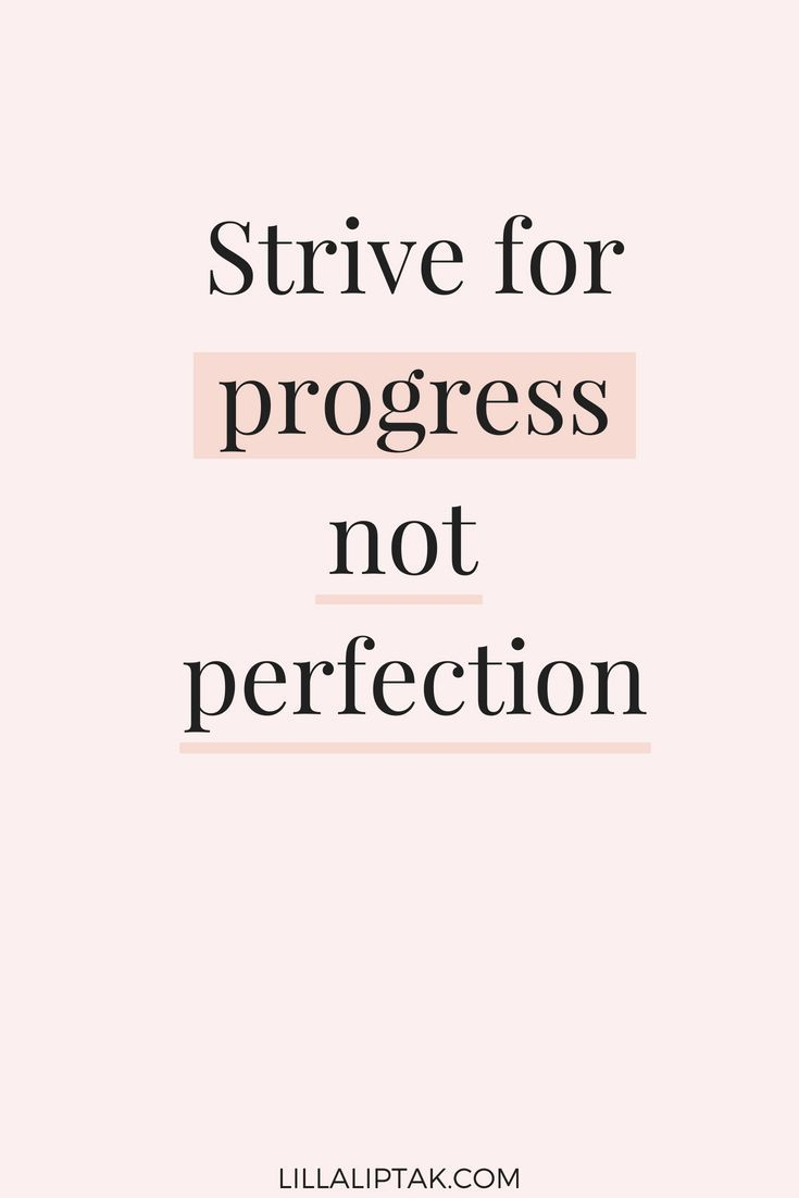 STRIVE FOR PROGRESS NOT PERFECTION #quote #quoteoftheday #quotestoliveby #motiva…